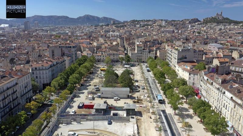 016-Vue aérienne travaux Place Jean-Jaurès août 2019
