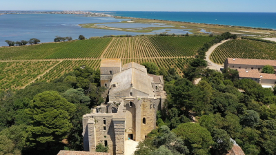 Aerial photo taken during a drone shoot for the french TF1 magazine with the Inspire 1, Villeneuve-les-Maguelones, Hérault, France