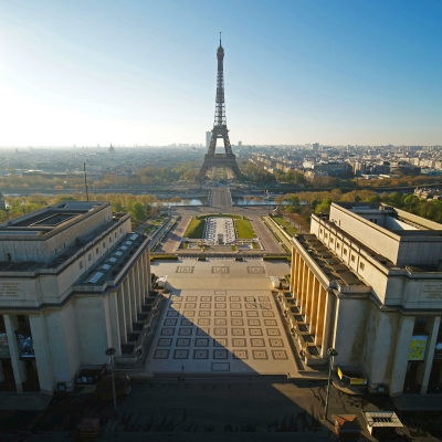 Paris shot by our Inspire 2 drone and the X7 camera during the Paris COVID-19 lockdown