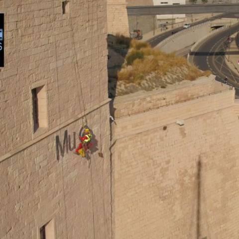 Drone-Pictures réalise pour OXY-signalétique le film de la pose de la nouvelle enseigne du Mucem !