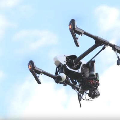 Drone Inspire pour l'Inspection thermique avec caméra FLIR