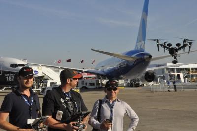 Notre équipe au Salon International de l'Aéronautique et de l'Espace